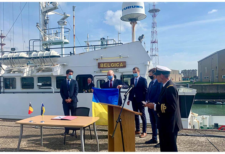 Україна отримала від Бельгії науково-дослідне судно «Бельгіка»